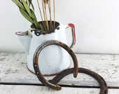 ON SALE Set of Two Vintage Rusty Horseshoes