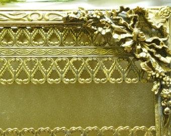 Ormulu Antique Claw Foot Ormulu Tissue Box, Vintage Kleenex Tissue Box, Ormulu Brass Filigree
