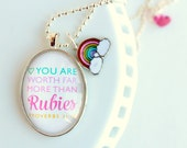 worth far more than RUBIES - necklace - rainbow