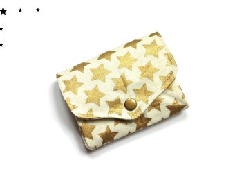 Coin purse wallet golden stars