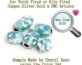 Florida Beaches, Enamel Glass Frit for Copper, Gold, Silver and PMC artists using torch fired or kiln fired processes to make beads