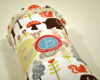 Organic Baby Swaddle Blanket / Receiving Blanket / Wrap