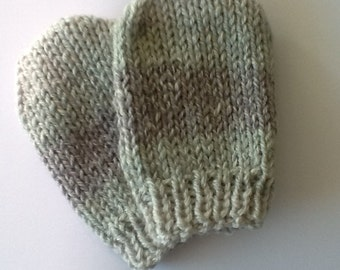 Handmade Knitted Baby Mittens 6 - 12 months