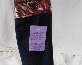 Denim Wine Tote,  Carry/Gift Bag, Recycled Market Bags