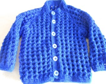Baby,Toddler Cardigan,Unique,Hand Knitted,18-20 Inch