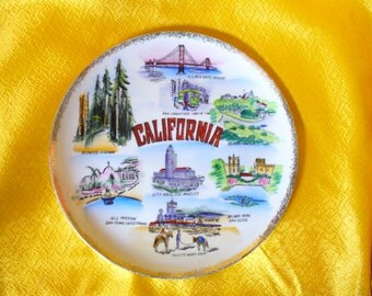 10 1/2' California Collectible Souvineer plate