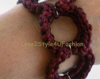 Link Circles Bracelet - Silver Circles Bracelet - Silver Rings Bracelet - Silver Wire Bracelet - Wire Jewelry - Large Link Chain Bracelet