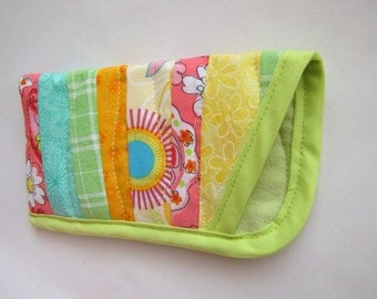 Eye Glasses Case, Quilted Whimsical Eye Glasses Case