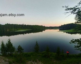 Northern Michigan Landscape Photographic Art - DIGITAL DOWNLOAD - Huron National Forest Foote Pond - Lumbermans Monument - Printable JPG Art