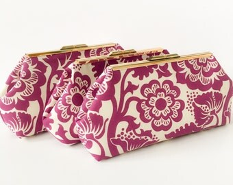 Plum Bridesmaid Clutches