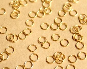 200 pc. 6mm Gold Open Jumprings, 21 gauge   FI-256