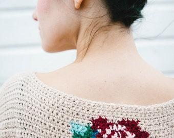 Crochet pattern Roses Top