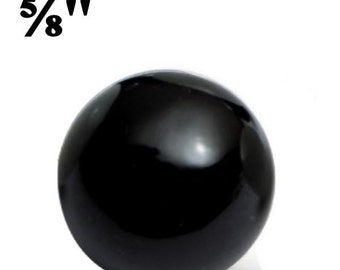 """5/8"""" Glass Marbles Black for Paracord Monkey Fist Core (25)"""
