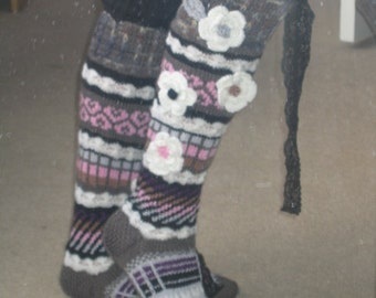 back to nature hand knitted socks - made to order