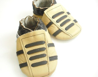 soft sole baby shoes leather infant sport beige dark brown 6 12 ebooba SP-9-BE-T-2
