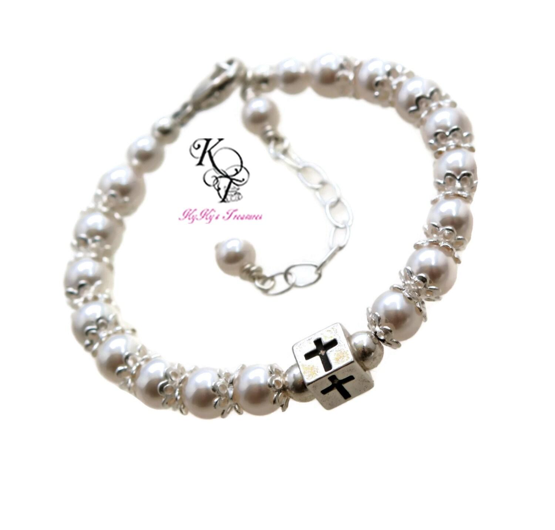 Baby Boy Gifts Jewelry : Baptism bracelet baby boy gift christening