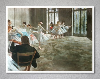 Rehearsal in the Studio by Edgar Degas - Art Print - Poster Paper, Sticker or Canvas Print