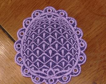 Embroidered Magnet - Easter - Easter Egg/Dark & Light Purples