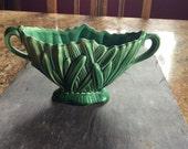 Green Sylvac vintage Planter, dish, pot, ornament. No damage.
