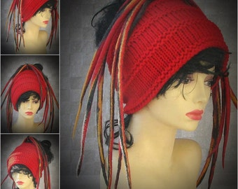 Dread Tube Dredlocks Accessories Dread Hat  Dreadlock tube hat, dreadlock headband, Tam Hat wide hair wrap, handmade