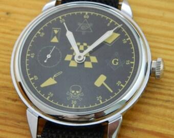 USSR Russian watch MOLNIJA Molnia Masonic #649S