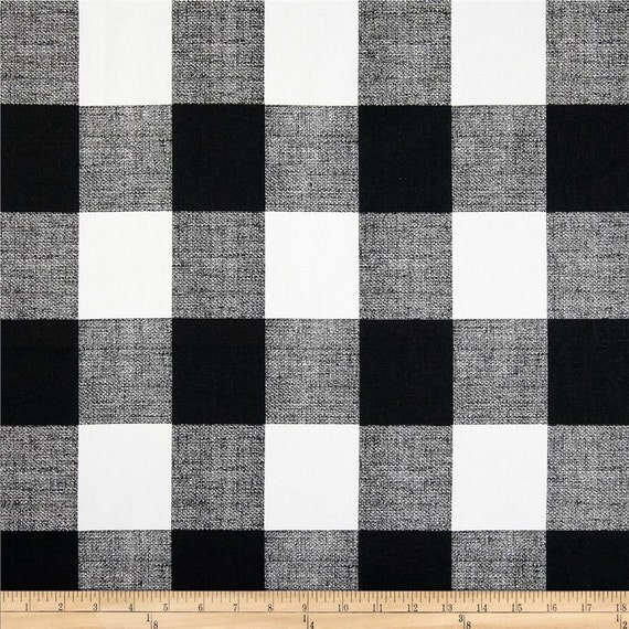 Black And White Buffalo Check Curtains Rod Pocket By
