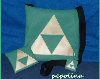 Zelda Triforce Package (including bag, keychain and wallet)