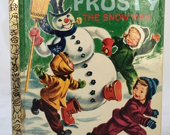 Frosty the Snowman Golden Book - 1969 - Wonderful Condition