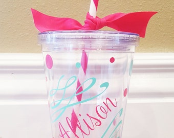 Personalized Whimsical Tumbler/ Cup