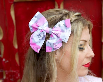 Large Pink Cats Hair Bow