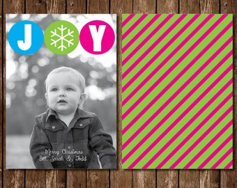 Joy Modern Photo Christmas Card