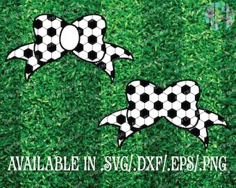 Digital Cut Files, Soccer Bows, SVG, DXF, EPS, Football, Spring, Summer, Fall, Cheer, Spirit, Team, High School, Vinyl, Silhouette, Cricut