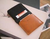 "iPhone SE case, iPhone SE sleeve, iPhone SE wallet, leather, wool felt, ""Kangaroo"""