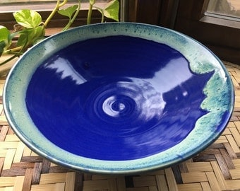 Handmade Cobalt Blue Serving Bowl