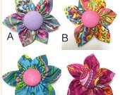 Handmade Fabric Collar Flowers