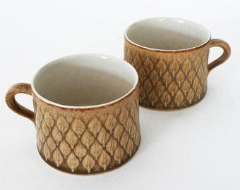 Jens Quistgaard IHQ RELIEF / Pair Mid Century Ceramic Tea Cups