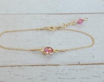 baby bracelet -baby girl gift - baby shower gift-unique baby gift-girl birthday-toddler bracelet-pink infant bracelet