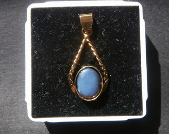 Lovely Lightning Ridge Opal Pendant Set in Goldplated Sterling Silver.