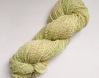 Handspun Hand Dyed Norwegian  Wool Worsted Light Green 140 Yards 3.4 Oz