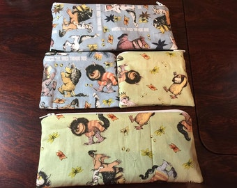 Where the Wild Things Are Coin Purse or Pencil/Makeup Bag