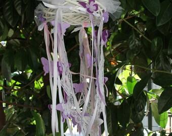 Nursery Mobile Chandelier - Magic violet Butterlies