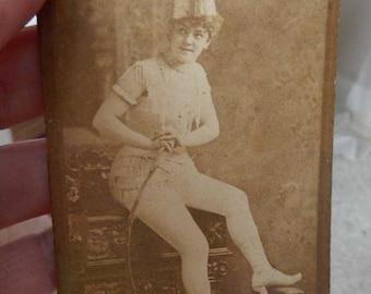Victorian Risque Girly Trade Card Navy Tobacco 1890 Photo