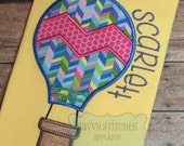 Chevron Hot Air Balloon Machine Embroidery Applique Design