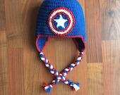 Captain America Inspired Beanie