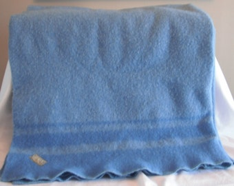 Vintage Ayers Blanket Pure Wool Throw Made in Canada