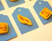 Tags - set of 6 - quilling art -