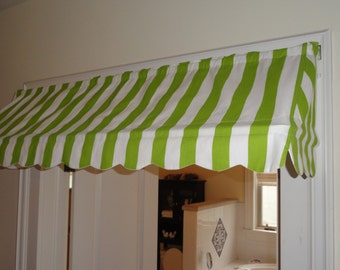 "14 1/2"" High and 18 to 70"" Wide Custom Made Indoor Awning (Choose from Available Fabrics or Provide Your Own Fabric)"