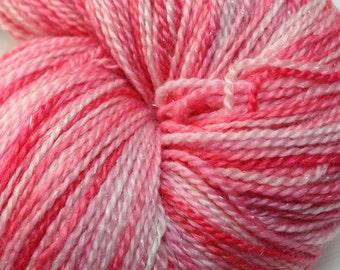 "Interstellar ""Kaylee's Strawberries"" 75/20/5 Merino, silk, stellina"