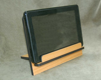Custom laser cut tablet/cell phone stand - made from solid alder.   A terrific Father's Day Gift !