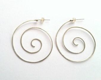 Handmade Spiral Hoops
